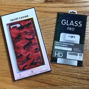 iPhone 10 velvet caviar red camo case